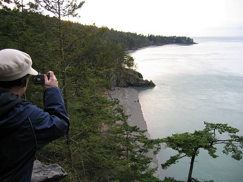Photo opportunity at Deception Pass, Washington State