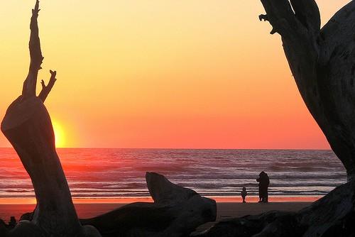 Sunset on Pacific Beach, Washington State