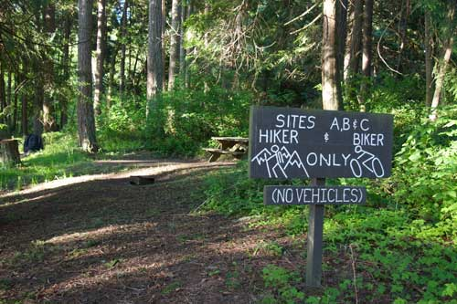 Camping grounds in Sequim Bay State Park