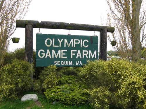 Sequim Game Farm entranc