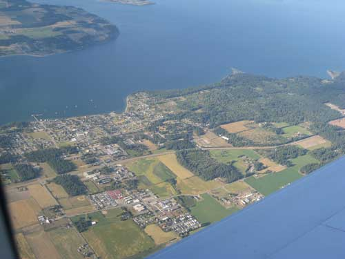 Penn Cove, Whidbey Island from the air