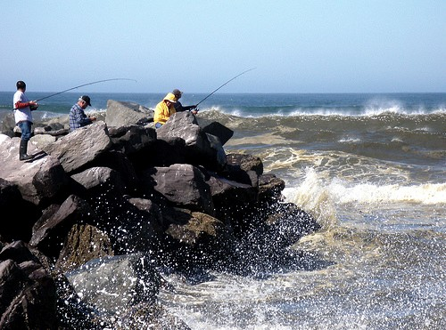 Fishing at Ocean Shores, Washington