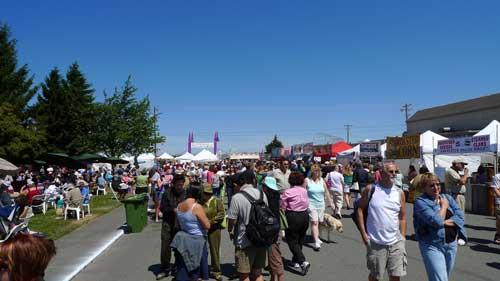 Sequim Lavender Festival street fair and food court