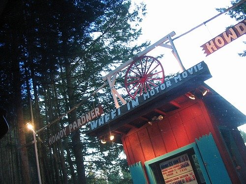 The Wheel-In, Port Townsend, WA: one of the last drive-in movie theaters in the United States